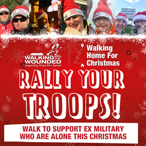 Rally your Troops. Walk to support ex military Instagram image