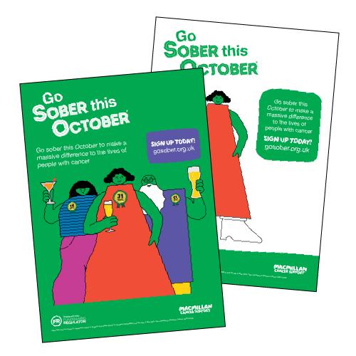 Sober October posters