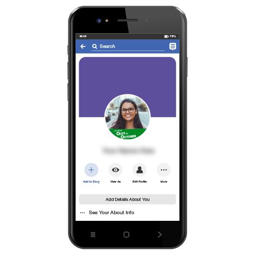 Quit For October Facebook Frames