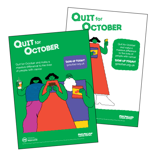 Quit For October posters