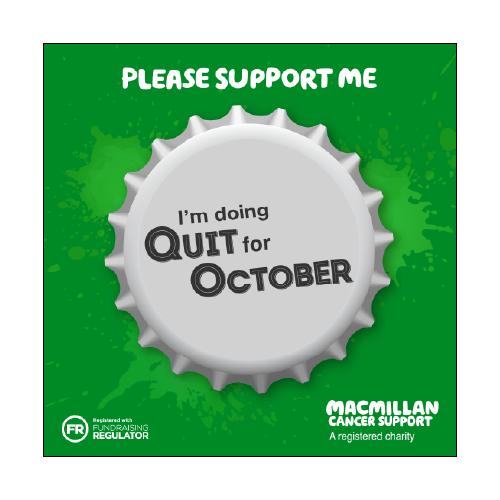 Quit For October social media graphics