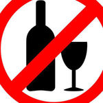 Thumb no alcohol sign drinking alcohol is forbidden icon vector 13820323